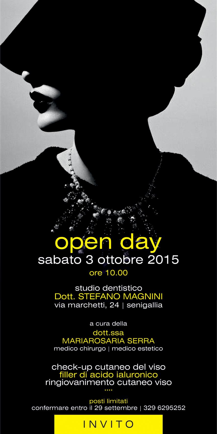 open day 3 ottobre